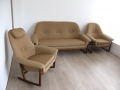 Danish teak sofa and chairs