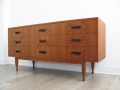 1960s Danish 9 drawer chest