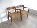 J.L. Moller 75 carver teak dining chairs