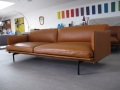 Muuto outline tan leather sofa