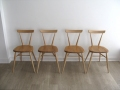 Ercol stacking school chairs