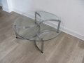 Merrow Associates glass & chrome coffee table