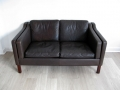 A Danish 'Borge Mogensen' eather sofa