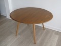 1960s elm Ercol extending drop leaf dining table