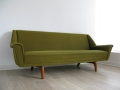 A Danish sofa on solid teak legs