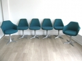 A set of 6 swivel chairs. Arkana