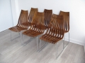 1960s 6 Rosewood 'Scandia' Chairs. Hans Brattrud for Hove Mobler