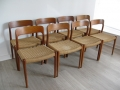 1970s teak '75' chairs. Niels O.Moller for JL Moller