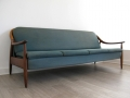 A teak daybed/sofa bed. Greaves & Thomas