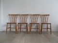 1960s 4 'candlestick' chairs.  Lucian Ercolani for Ercol