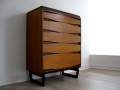 1960s unusual stylised chest of drawers