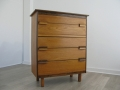 1970s Teak chest of drawers/tallboy rosewood handles