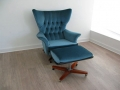 Dr No 'Blofeld' lounge chair & ottoman. G Plan.
