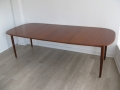 1970s Danish teak extending dining table