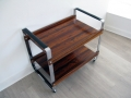 1960s Rosewood/chromed steel trolley. Norwegian