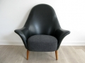 A 1950s lounge chair