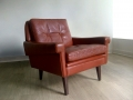 A Danish leather lounge chair