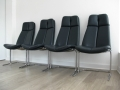 A set of 4 leather 'eleganza' chairs by Pieff