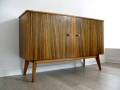 A 1960s zebrano wood sideboard by Morris of Glasgow