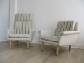 A pair of 1960s ladies and gentlemans Danish armchairs