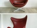 1964 Arne Jacobsen Fritz Hansen leather Egg