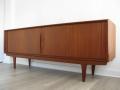 60s Teak 'tambour door' sideboard. Bernhard Pedersen & Son, Denmark