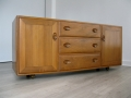 A solid elm sideboard by Lucian Ercolani for Ercol