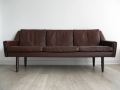 A Danish leather sofa