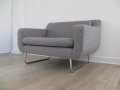 A grey 'aspen' chair by Terence Conran