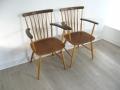 A pair of 1960s occasional chairs by Billund Stolefabrik (Denmark)