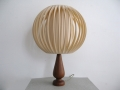 A 1960s teak table lamp