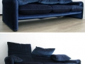 3 seater Maralunga sofa by Vico Magistretti