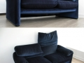 A 2 seater Maralunga sofa by Vico Magistretti