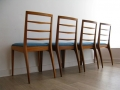 A set of 4 1960s teak dining chairs, McIntosh & Co