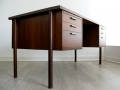 A large 1960s Danish rosewood desk