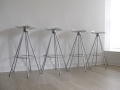 Aluminium 'Jamaica' barstools by Pepe Cortes for Knoll
