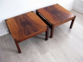 Pair Danish rosewood coffee tables