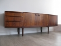 A 1960s rosewood sideboard by A H McIntosh & Co