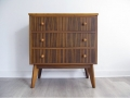 A 1950s zebrano chest of drawers. Morris of Glasgow