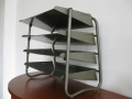 A set of 1950s metal office letter trays