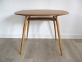 1960s elm dining table. Lucian Ercolani for Ercol