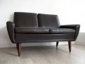 A 2 seater Danish leather sofa