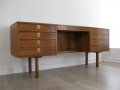 1970s rosewood desk by Archie Shine for Heals