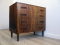 A 1960s Danish rosewood chest of drawers