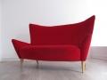 A 'Matador' 2 seater sofa with oak legs by Terence Conran