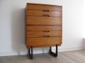 A 1960s tallboy chest of drawers by Uniflex