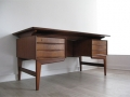 A 1960s Danish teak desk with floating top