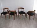 Model 16 teak chairs by Johannes Andersen