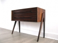 A Danish rosewood 2 drawer side table