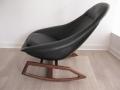 A 1960s Lurashell Fibreglass rocking chair